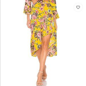 Band Of Gypsies Floral Boho Hi-Low Ruffle Skirt